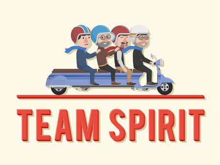business team: Team spirit business man