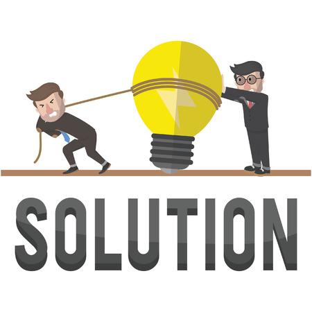interesting: businessman interesting solution illustration design Illustration