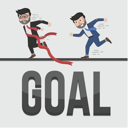businessman goal illustration design Illustration