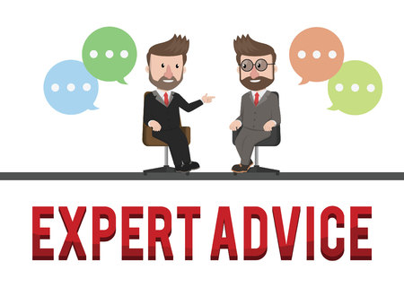 advice: Expert advice business concept illustration Illustration
