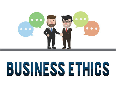 a righteous person: Ethics business concept illustration
