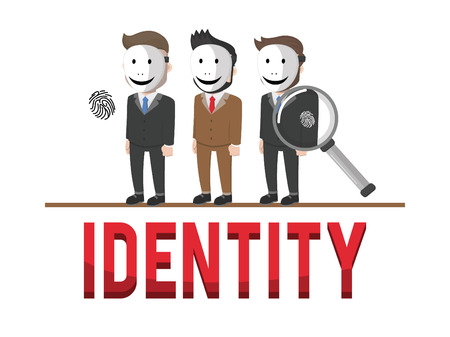 Identify business concept illustration