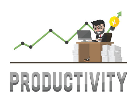 managed: Productivity business concept illustration