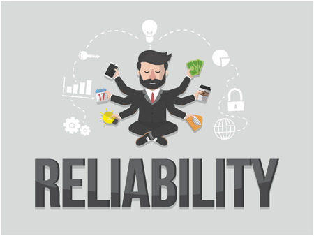 reliability: Reliability business concept illustration