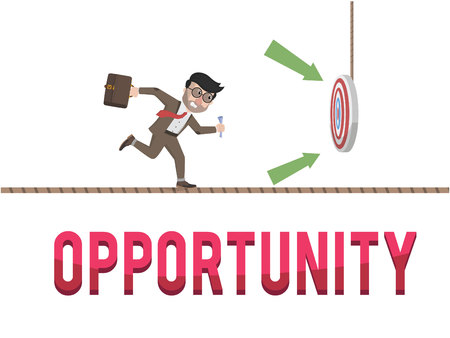 opportunity: Opportunity business concept illustration Illustration
