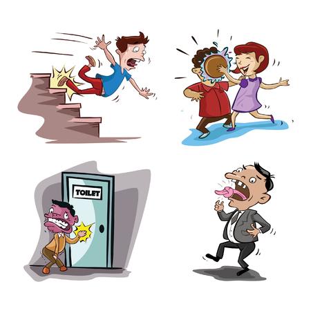 Les gens mauvais chance collection design illustration Banque d'images - 60520588
