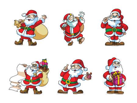 santaclause: santaclaus illustration design collection