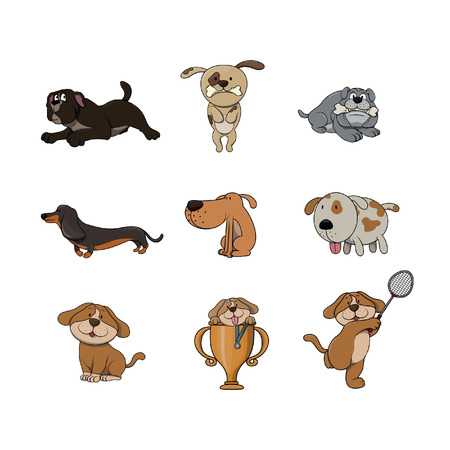 dog illustration design collection Illustration