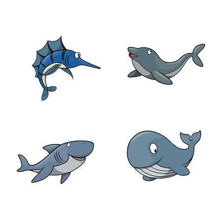 big fish illustration design collection Illustration