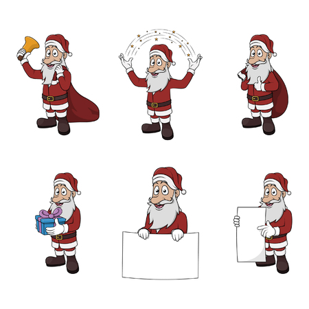 clause: santa clause illustration design collection