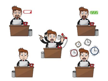 businessman working illustration design collection Illustration
