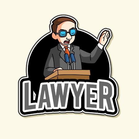 lawyer illustration design full colour Illustration