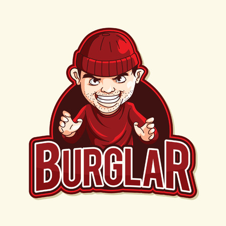 burglar: burglar red illustration design Illustration