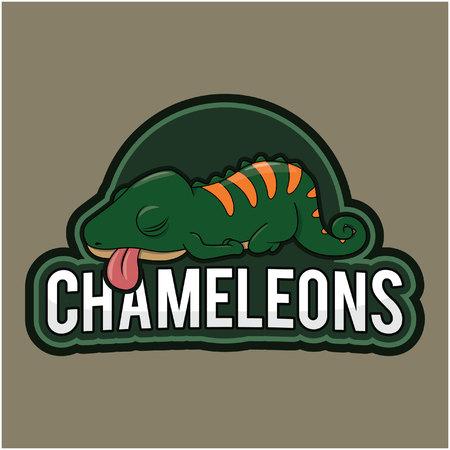chameleons: chameleons illustration design full colour