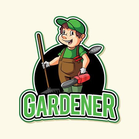 gardener illustration design full colour