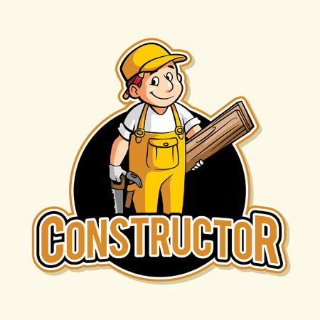 constructor: constructor illustration design full colour