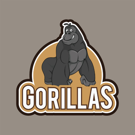 gorillas illustration design full colour