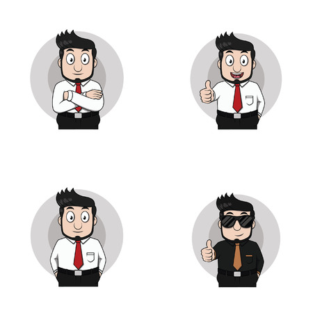 half body: businessman half body illustration design collection Illustration