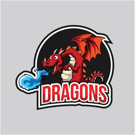 dragons illustration design full colour