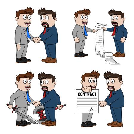 cooperativismo: hombre de negocios cooperativo ejemplo de la colección de diseño
