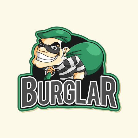 burglar: burglar green illustration design