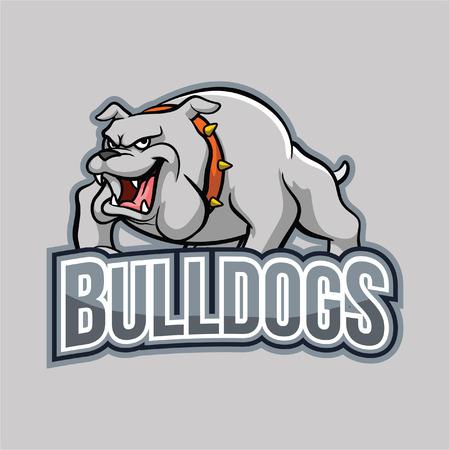 bulldogs illustration design full colour Vettoriali