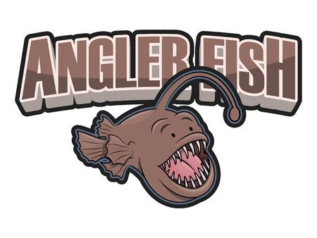 angler: angler fish illustration design colorful Illustration
