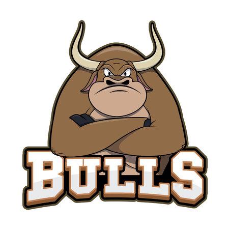 bulls illustration design colorful