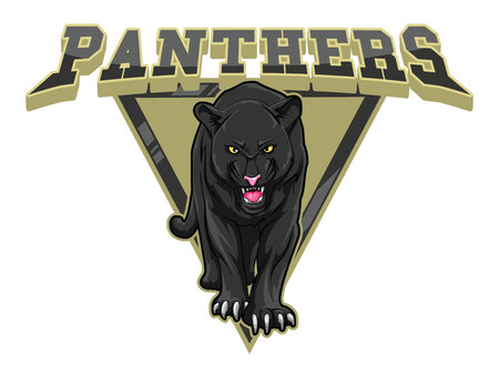 panthers illustration design colorful