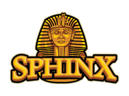 sphinx illustration design colorful