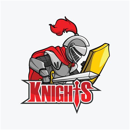 crusades: knights illustration design colorful
