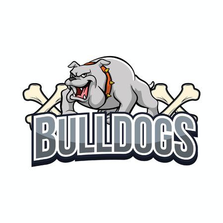 bulldogs illustration design colorful