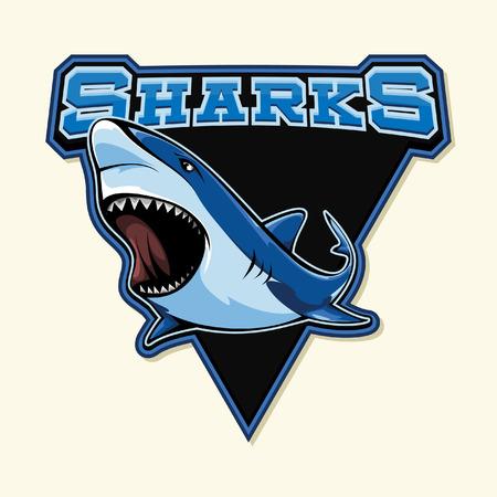 surf team: shark illustration design
