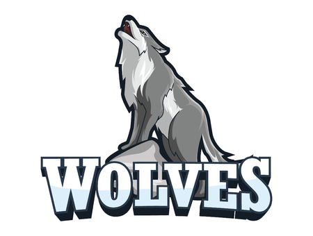 wolves banner illustration design