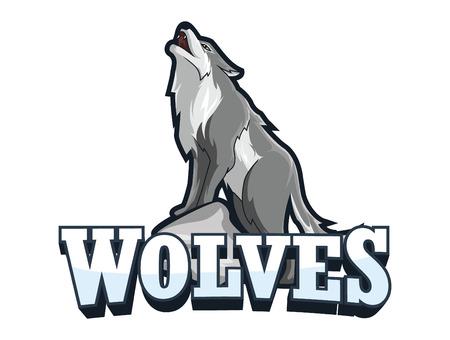 pass away: wolves banner illustration design
