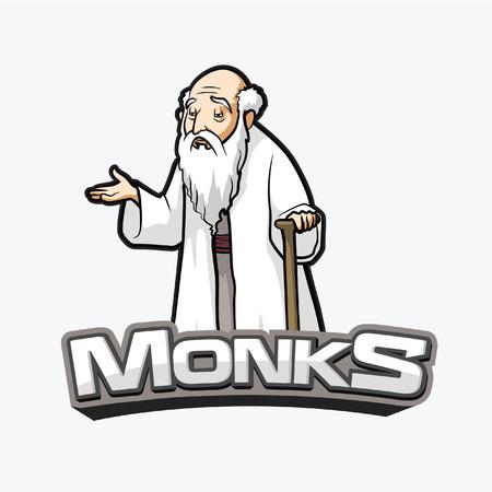 conception moines bannière illustration