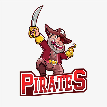 pirates banner illustration design Illustration