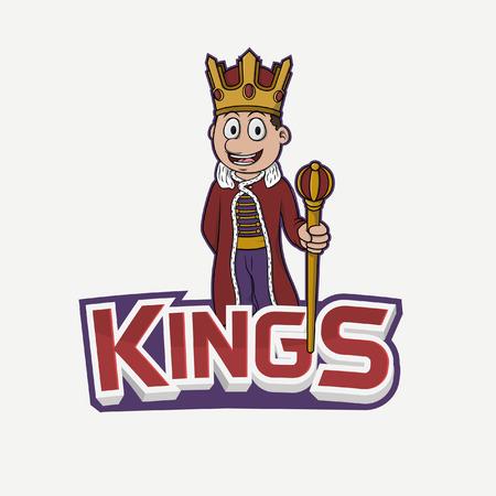 kings banner illustration design colorful