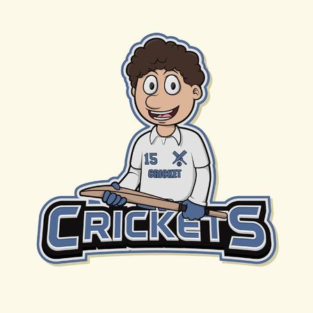cricket logo illustration design