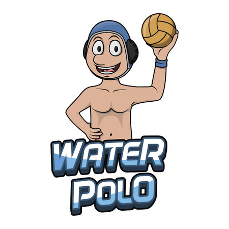 water polo: water polo illustration design
