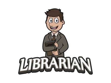 librarian: librarian logo illustration design