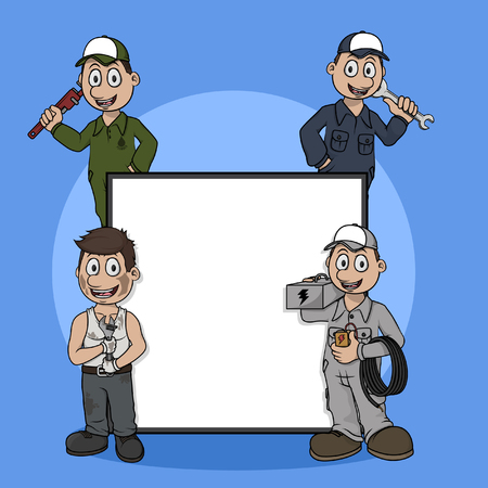 profession: technician profession sign illustration design