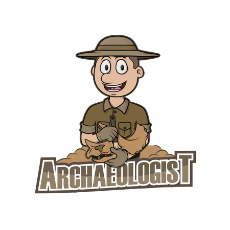 paleontological: archaeologist illustration design