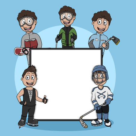 playoff: ice skating sport sign illustration