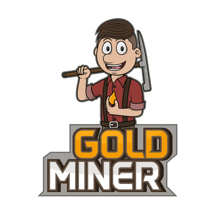 prospector: Mina de oro, ilustración, diseño