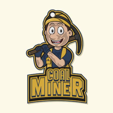 coal miner: coal miner illustration design