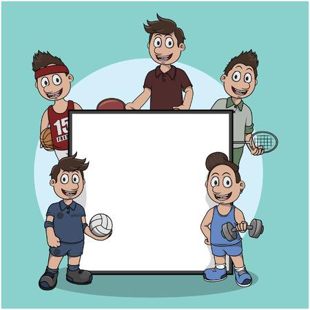 indoor sport athelete teken illustratie ontwerp Stock Illustratie