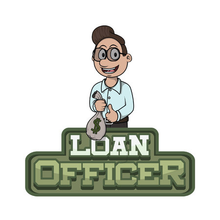 loan officer illustration design