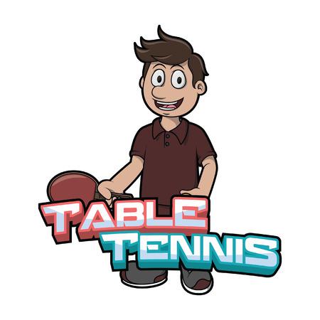 table tennis illustration design
