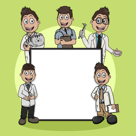 profession: medical profession sign illustration design Illustration